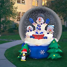 click here for christmas snow globes inflatable snowman riding motorcycle yard blowups christmas archway yard decoration 8 foot christmas snow globes